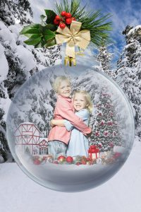 Kids in Christmas Bauble